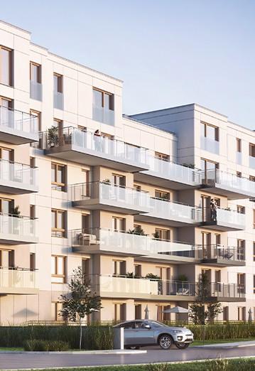 Apartamenty Przystań w Giżycku wizualizacja bloku