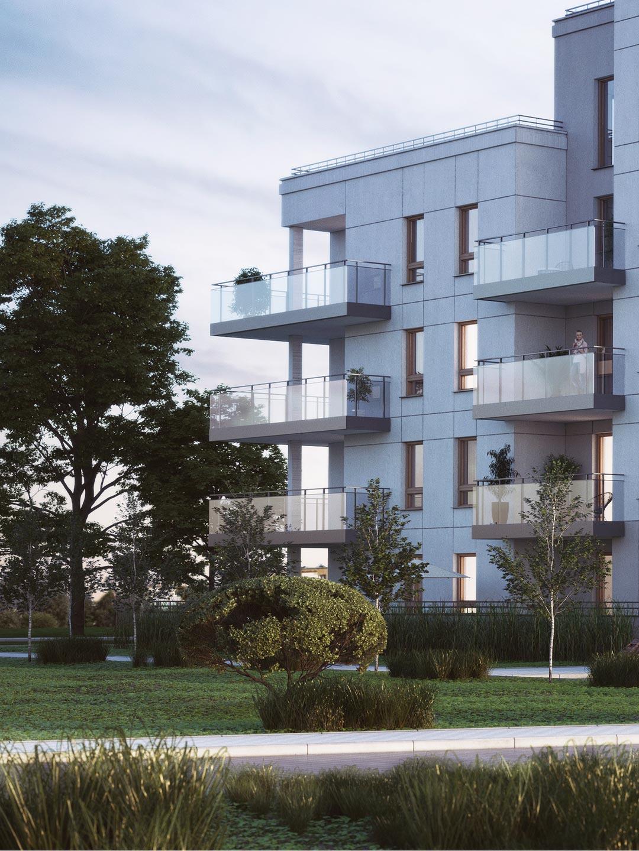 Apartamenty Przystań mieszkania w Giżycku wizualizacja osiedla