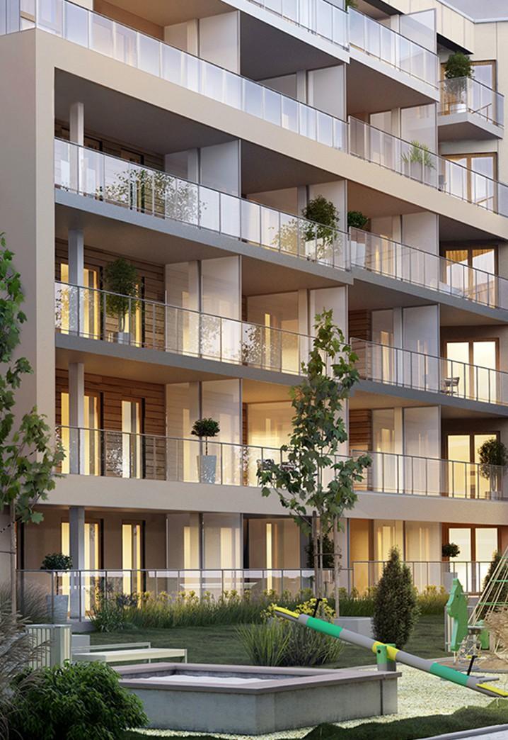 Apartamenty Antoniuk w Białymstoku wizualizacja balkonów