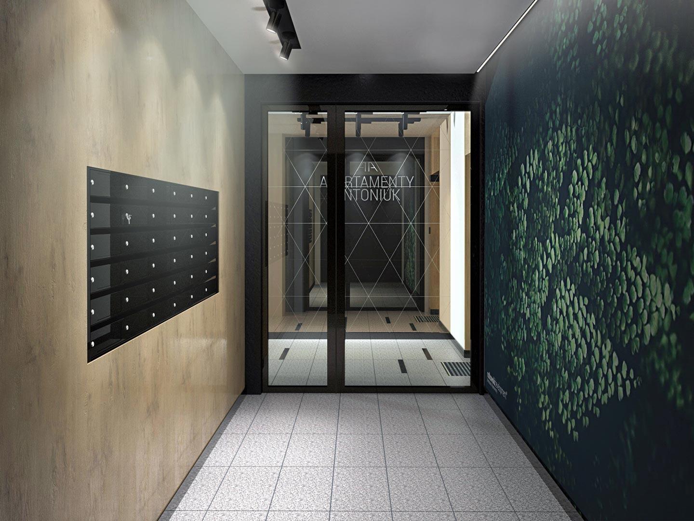 Apartamenty Antoniuk w Białymstoku wizualizacja wejścia