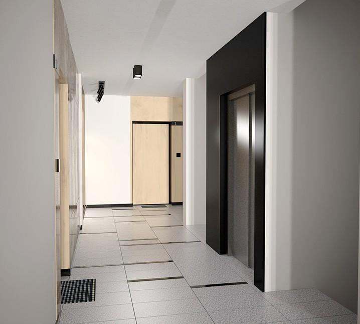 Apartamenty Antoniuk w Białymstoku wizualizacja korytarz
