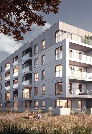 Osiedle Koszarova apartamenty w Giżycku wizualizacja bloków