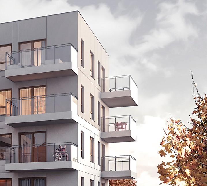 Osiedle Koszarova apartamenty w Giżycku wizualizacja balkony