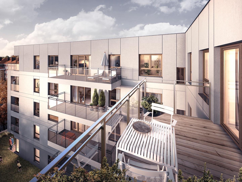 Apartamenty Koszarova mieszkania w Giżycku wizualizacja balkon