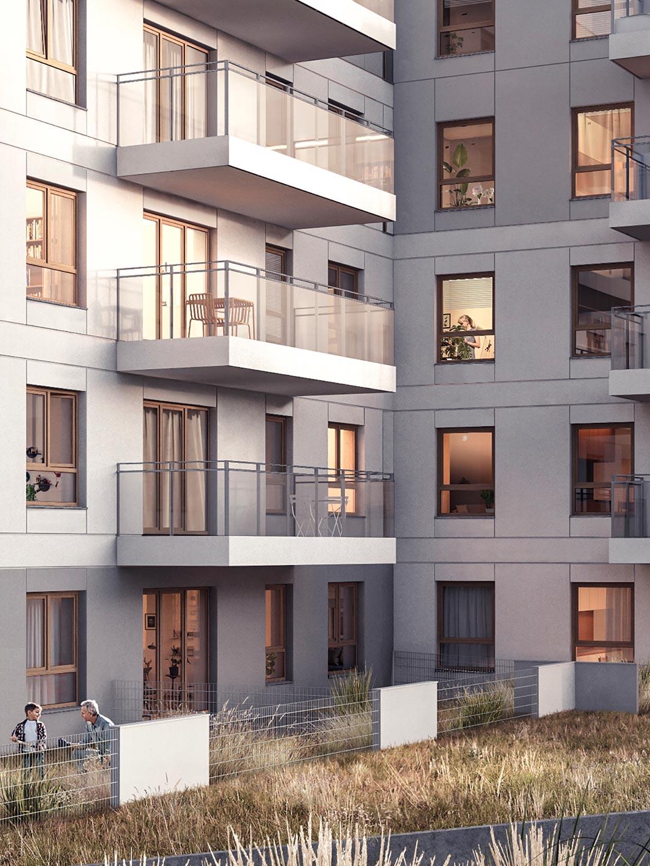 Apartamenty Koszarova mieszkania w Giżycku wizualizacja blok