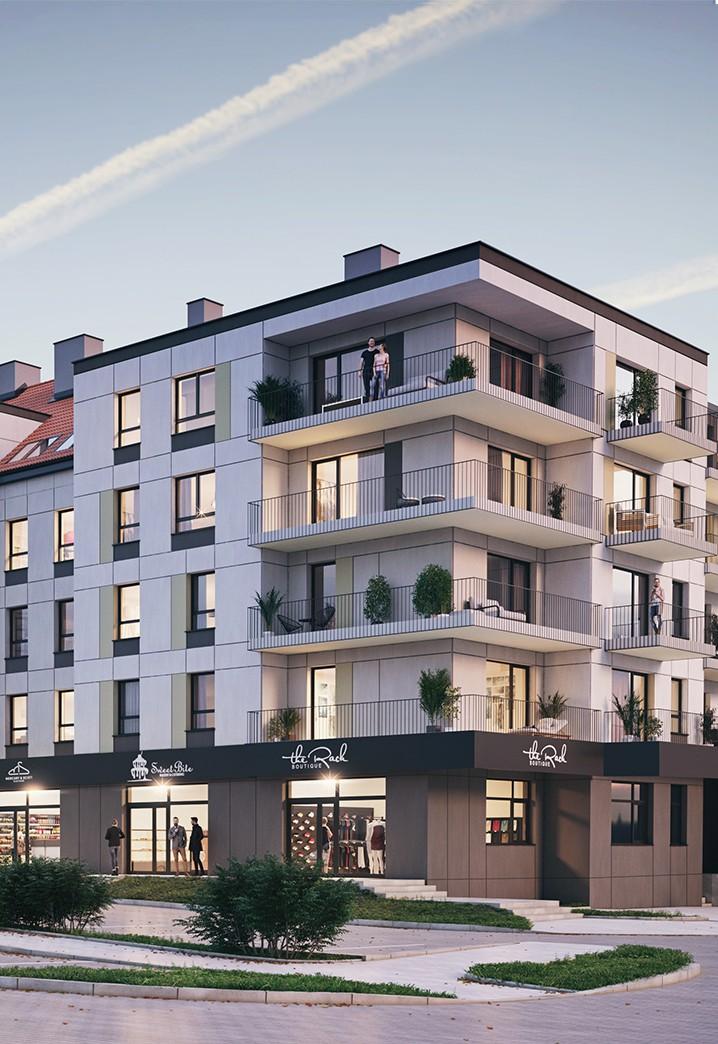 Apartamenty Nova Port w Węgorzewie wizualizacja bloku