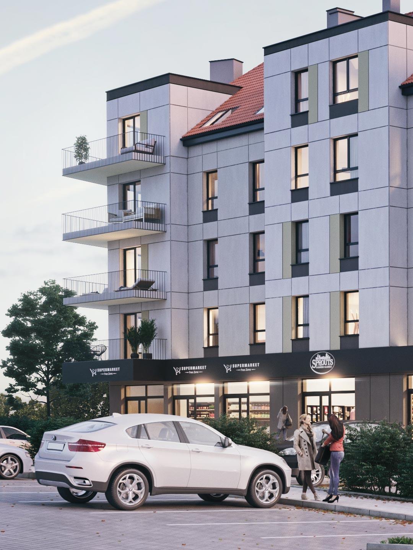 wizualizacja parking osiedle Nova Port Węgorzewo