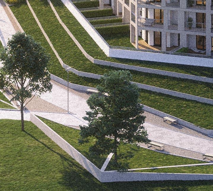 Osiedle Sobola Biel w Suwałkach wizualizacja parku