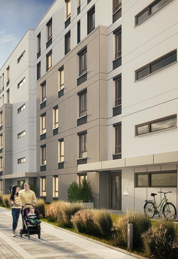 Apartamenty Sobola Biel Suwałki wizualizacja osiedla