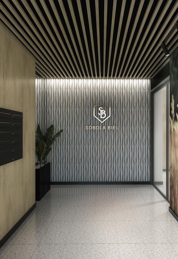 Osiedle Sobola Biel Suwałki wizualizacja korytarza