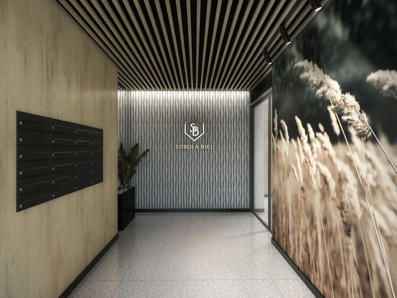 Osiedle Sobola Biel w Suwałkach wizualizacja wejście budynku